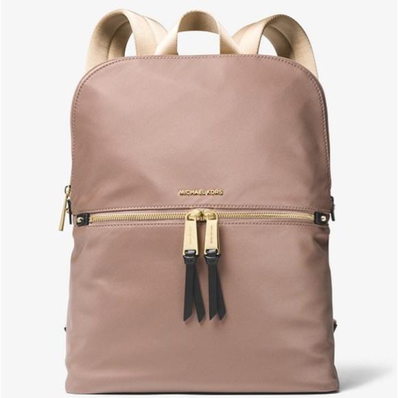 97b284b34f2a Michael Kors Bags | Nwt Polly Slim Backpack Dunegold | Poshmark